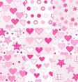 Baby girl seamless background patterns vector