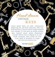 Keys background vector