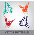 Butterfly icons eps10 vector