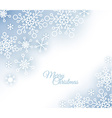 Christmas card with snowflakes on the background vector