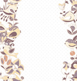 Flowers and birds seamless texture pattern border vector