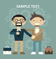 Flat design partnership concept handshake vector