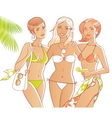 Beach girls vector