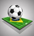 World soccer championship in brazil vector