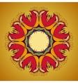 Ornamental round lace pattern is like mandala vector
