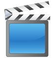 Film slate background vector