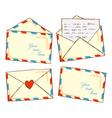 Vintage envelope doodle vector
