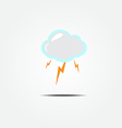 Cloud and lightning icon vector