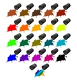 Barrels of colors vector