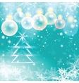 Winter holiday of christmas balls and fir tree vector