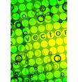 Green pattern background vector