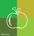 Apple and think green vector
