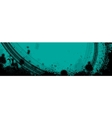 Blue tire track banner vector