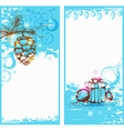 Blue christmas vertical banners vector