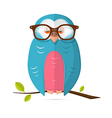 Owl with glasses paper isolated on white bac vector