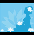 Young woman in spa vector