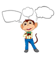 A male monkey with blank callouts vector