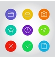Outline icon set with clock arrow and navigation vector