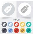 Usb stick sign icon usb flash drive button vector