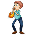 Man playing with the trumpet vector