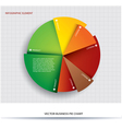Business pie chart paper info graphics vector