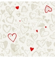 Seamless pattern with valentine hearts sketch vector