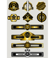 Collection of gold badges and banners vector