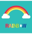 Symbol of rainbow and clouds vector