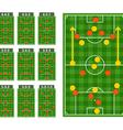 Main football strategy schemes vector