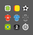 Soccer match icons flat design vector