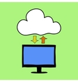 Cloud computing doodle style vector