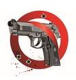 Handgun beretta elite bloody stop vector