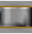 Punched metal chromium surface vector