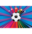 Soccer ball with stars3 vector