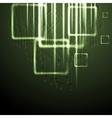 Green shiny technology background vector
