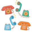 Retro telephone cartoon vector