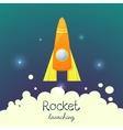 Cartoon rocket 3d set vector