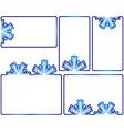 Winter text boxes vector