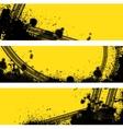 Three tire track banner vector