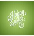 Easter egg vintage lettering design background vector