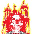 Skull church vector