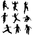Children jumping vector