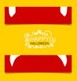 Happy halloween design banners vector