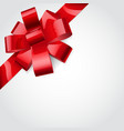 Red bow of ribbon vector