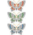 Jewerly butterflies vector