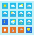 Icon set of weather icons with snow rain sun and vector