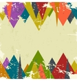 Abstract grunge background with triangles vector