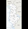 Albania political map vector