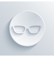 Modern glasses light icon vector