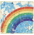 Abstract grunge background with rainbow vector